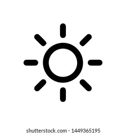 Sun vector border icon. This icon use for admin panels, website, interfaces, mobile apps