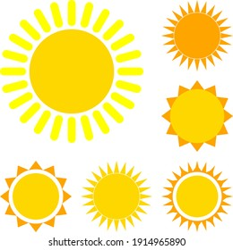 Sun vector graphics for your projects and designs