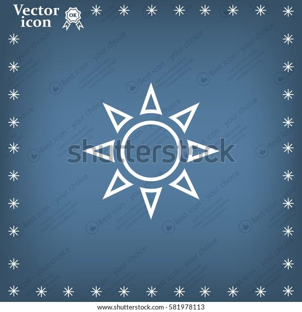 Sun - vector icon