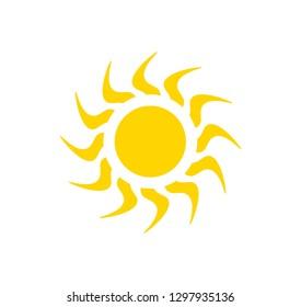 Sun vector icon. Sun illustration.
