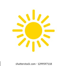 Sun vector icon. Sun illustration.