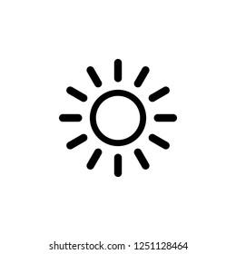 Sun vector icon. Sun line vector icon