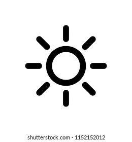 Sun vector icon. Sun line vector icon. sunshine icon