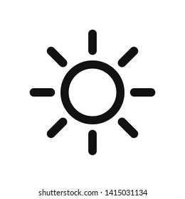 Sun vector icon in modern design style for web site and mobile app