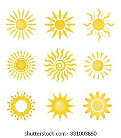Sun vector images