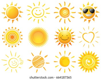 sun vector set