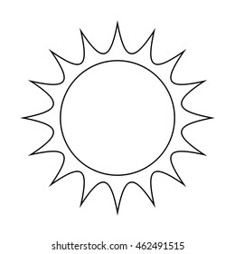 sun vector symbol icon design. illustration isolated on white background