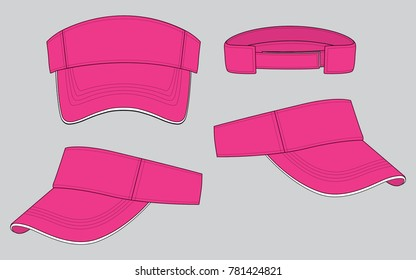 Sun Visor caps for Template, Pink