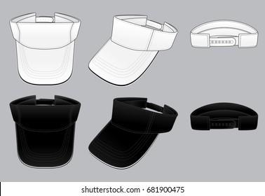 Sun visor hats template