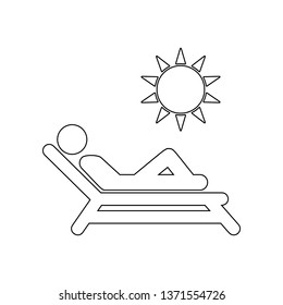 sunbathe icon. Element of Beach for mobile concept and web apps icon. Outline, thin line icon for website design and development, app development