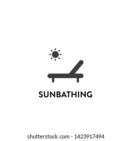 sunbathing icon vector. sunbathing vector graphic illustration