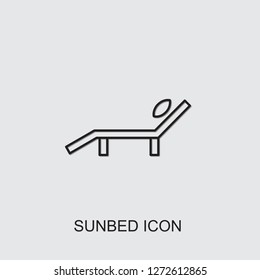 sunbed icon . Editable line sunbed icon from beauty. Trendy sunbed icon for web and mobile.