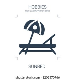 sunbed icon. high quality filled sunbed icon on white background. from hobbies collection flat trendy vector sunbed symbol. use for web and mobile
