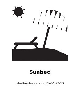 Sunbed icon vector isolated on white background, Sunbed transparent sign , vacation symbols