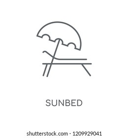 Sunbed linear icon. Sunbed concept stroke symbol design. Thin graphic elements vector illustration, outline pattern on a white background, eps 10.