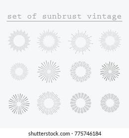 Sunbrust vintage elements