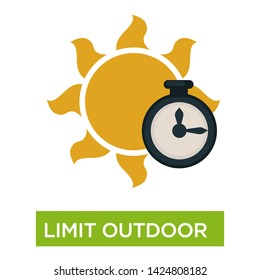 Sunburn and sunstroke preventive measures limit outdoor time vector