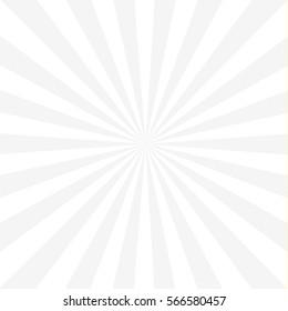 Sunburst background, light gray and white.
