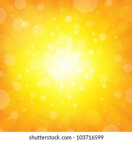 Sunburst Background Shiny background, Vector Illustration