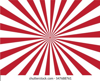Sunburst background.red  and white sunburst. Vector illustration.
