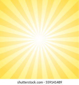 Sunburst background, yellow color.