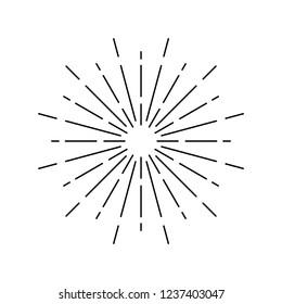 Sunburst design on white vector