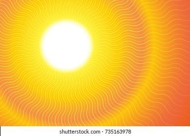 Sunburst Hot Heat Ray Background Vector Illustration