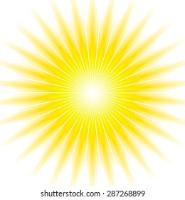 Sunburst light background with yellow lines