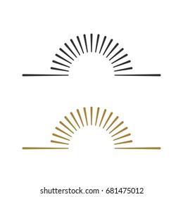 Sunburst Line Logo Template Illustration Design. Vector EPS 10.