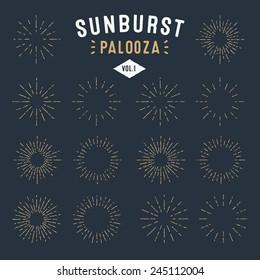 'Sunburst Palooza' Set of Retro Sun burst shapes for your next vintage design project | Collection of Sun ray frames vector design elements | Handmade quality illustration | Volume 1