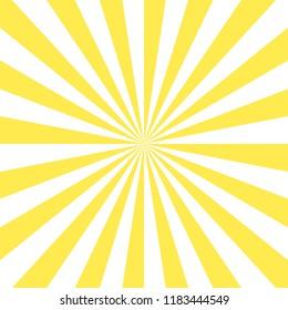 Sunburst pattern, sunrise background, yellow retro round lines - vector illustration. Sun rays background vector eps10.