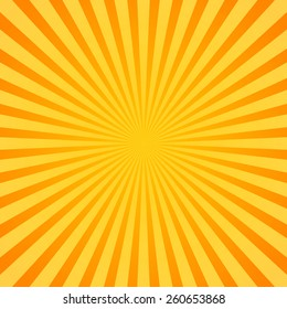 Sunburst, Rays, Beams. Glowing, radiant backdrop