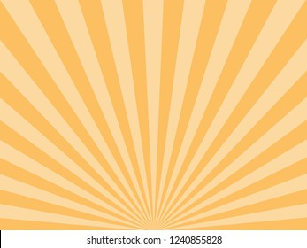 Sunburst, starburst background, converging lines. Vector illustration.