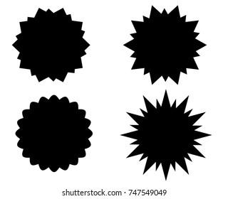 Sunburst vector badges