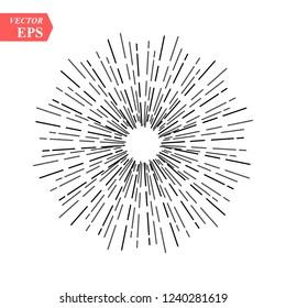 Sunburst vector collection. Retro rays frames. Star burst hand drawn circles. Sunshine decorative elements. Frames with ray illustration. Vintage vector decorative frames eps10