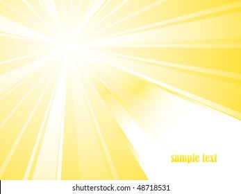 Sunburst vector with place for your text. NEW.