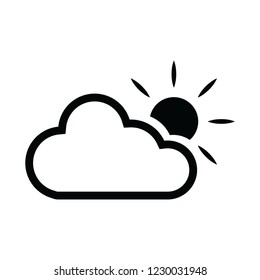 sund and cloud icon for web and print