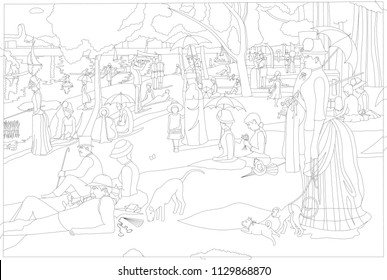Seurat images stock photos vectors shutterstock for Seurat coloring pages