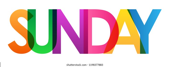 sunday rainbow letters banner stock vector royalty free 1198377883