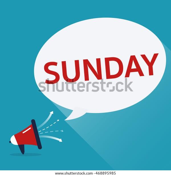 sunday speech bubble loudspeaker vector illustrator stock vector royalty free 468895985 shutterstock