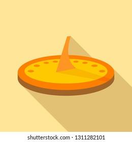 Sundial icon. Flat illustration of sundial vector icon for web design