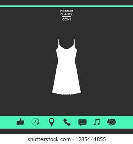 Sundress, Evening dress, combination or nightie, the silhouette. Menu item in the web design