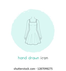 Sundress icon line element. Vector illustration of sundress icon line isolated on clean background for your web mobile app logo design.