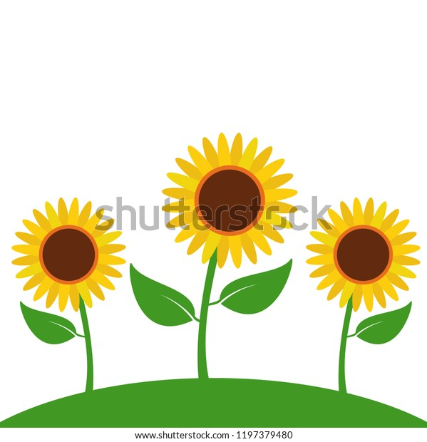 15+ Sunflower Garden / Spring / Summer Vector Clipart Crafter Files