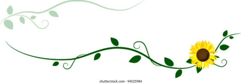 Sunflower decorative ornament