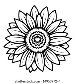 Sunflower Outline Images Stock Photos Vectors Shutterstock You can use it in your daily design, your own artwork and your team. https www shutterstock com image vector sunflower flower black white illustration linear 1495897244