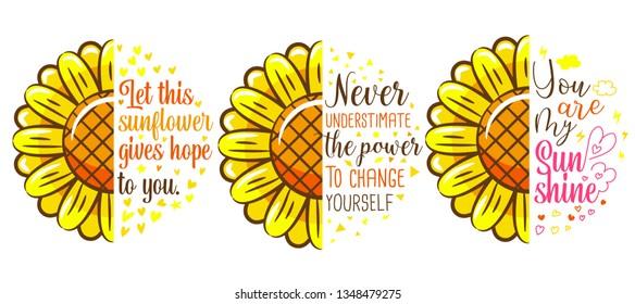 sunflower half vector