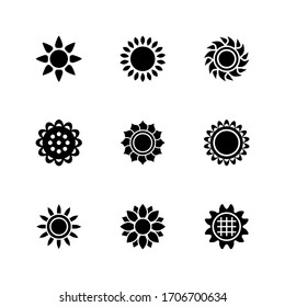 sunflower icon or logo isolated sign symbol vector illustration - Collection of high quality black style vector icons