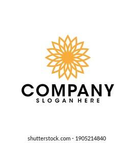 sunflower logo vector graphic design