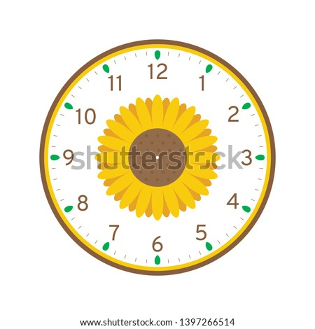 photograph regarding Free Printable Clock referred to as Sunflower Printable Clock Facial area Template Isolated Inventory